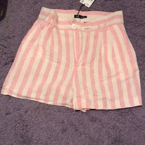 8a329f56 Zara Shorts | High Waisted Striped | Poshmark